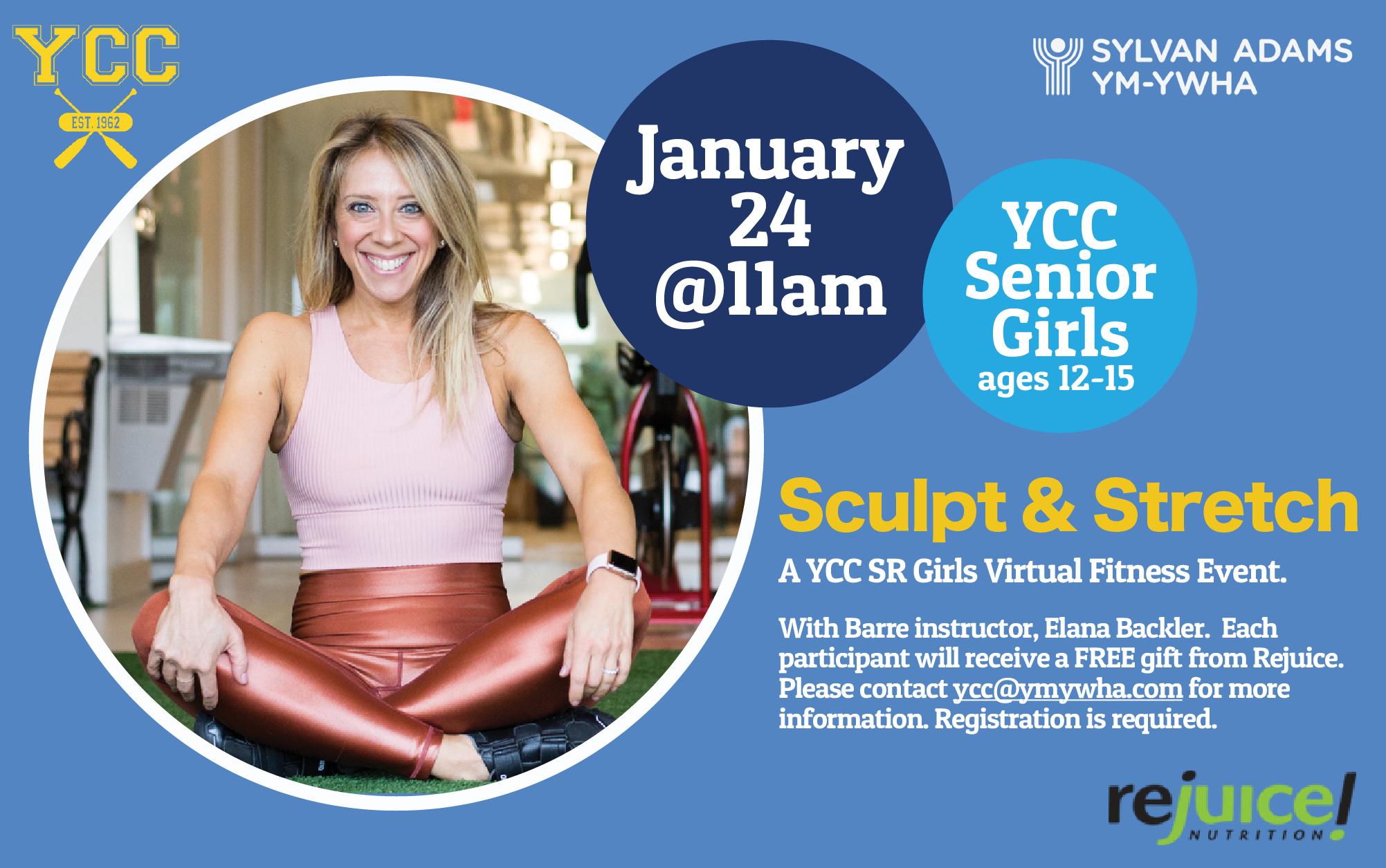 Sculpt & Stretch - A YCC Virtual Fitness Event