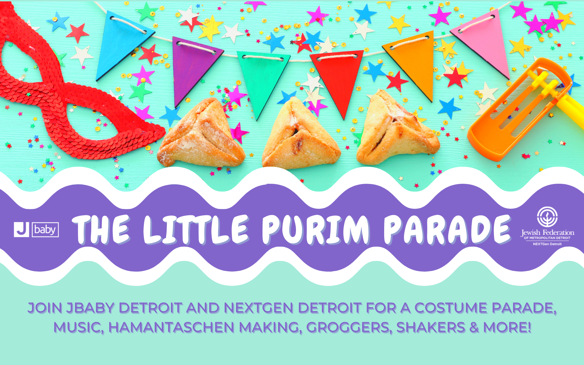 The Little Purim Parade with Jbaby and NextGen Detroit