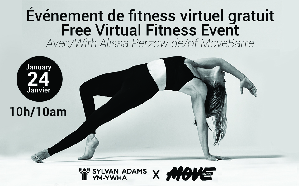 Free Virtual Fitness Event Presented by the Sylvan Adams Y & MoveBarre